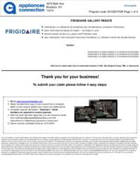 Frigidaire - October Rebate (up to $800 value)