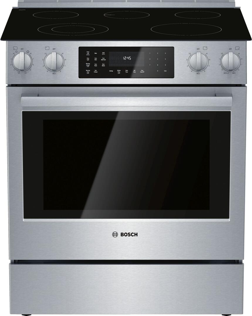 SAVE $219.34 On Bosch HEI8056U 800 Series 30 Inch Stainless Steel Slide-in Electric Range