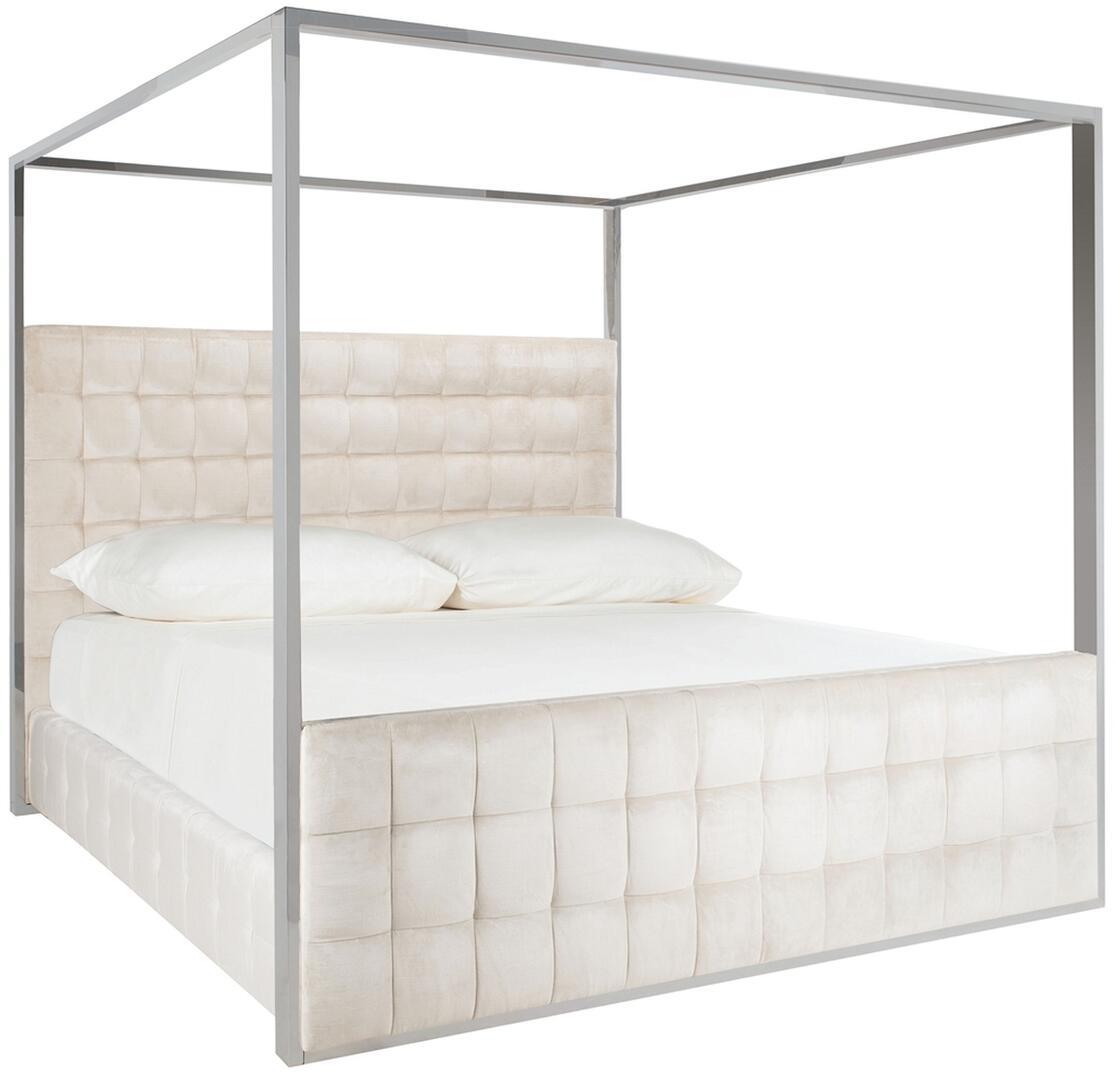 - Safavieh Alexci Queen Size Bed KNT7035A White Appliances Connection