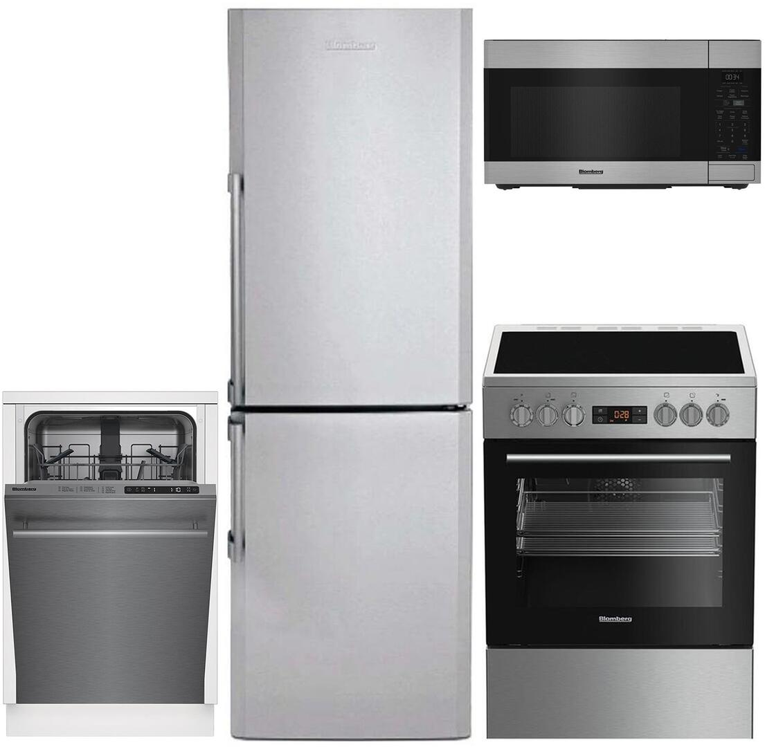 Blomberg 743425 4 piece Stainless Steel Kitchen Appliances Package