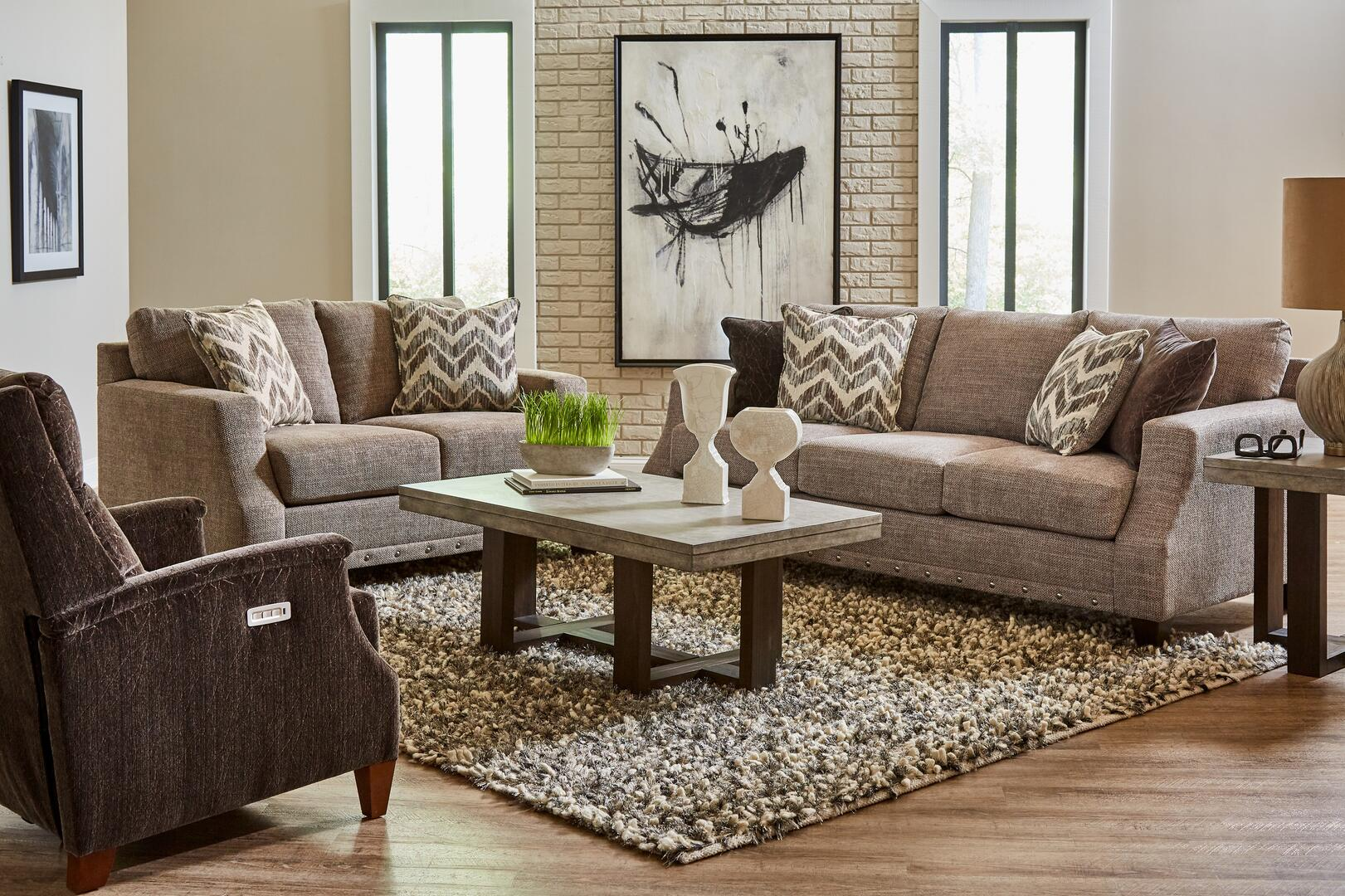 Lane Furniture Crosby Collection 802503crosbypewterset 3 Piece