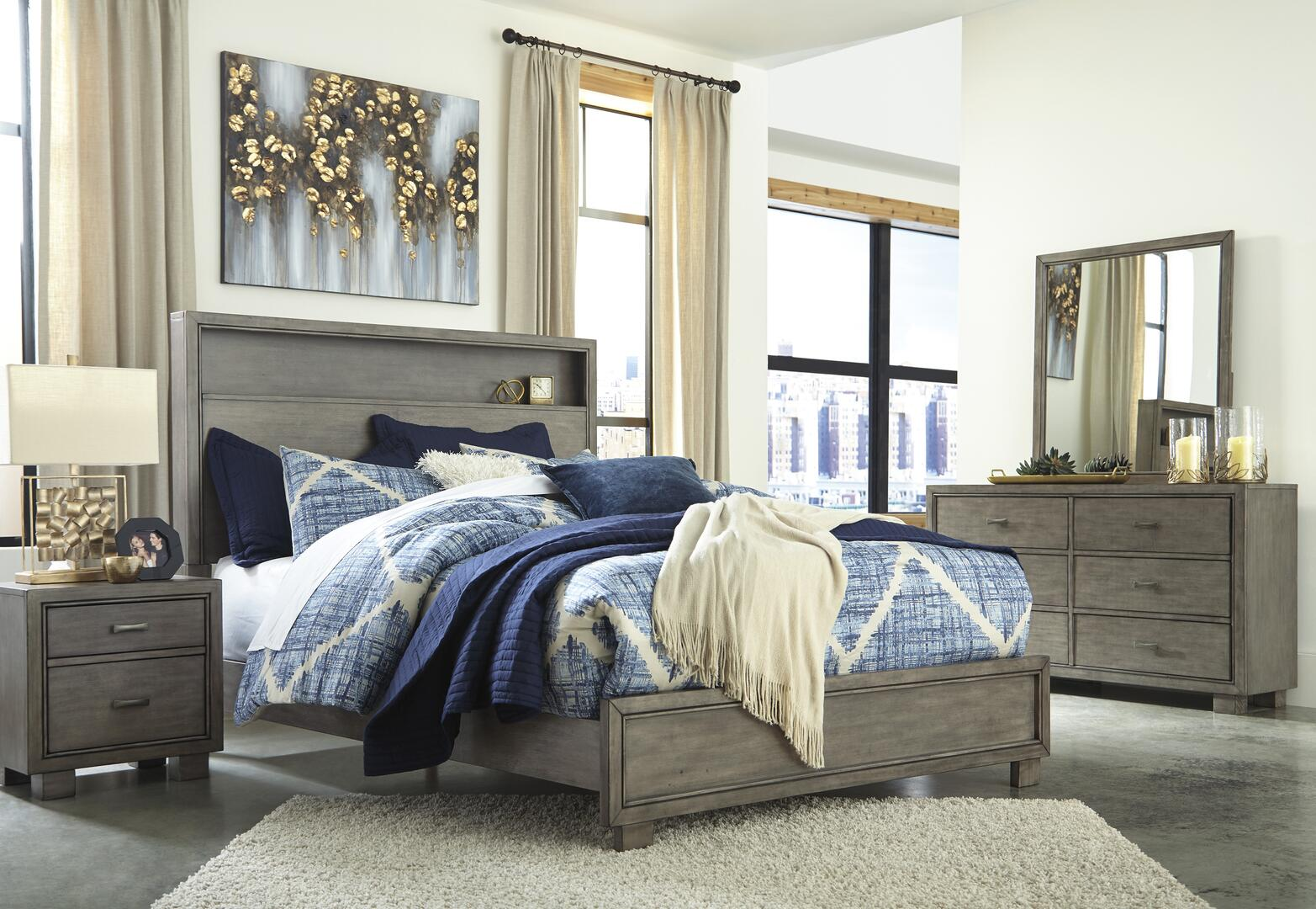 Signature Design By Ashley Arnett 4 Piece King Size Bedroom Set