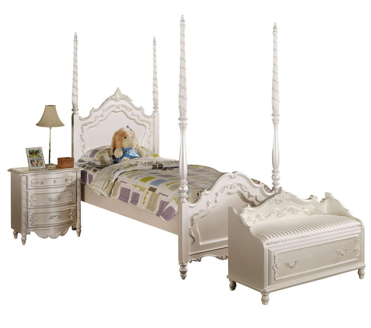 Acme Furniture Pearl 3 Piece Full Size Bedroom Set