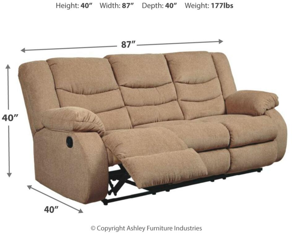 Reclining Sofa 9860488 Mocha, Ashley Furniture San Marcos Texas