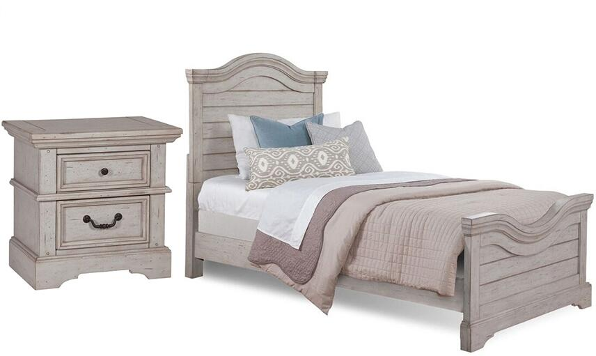 American Woodcrafters Stonebrook Youth 2 Piece Full Size Bedroom Set