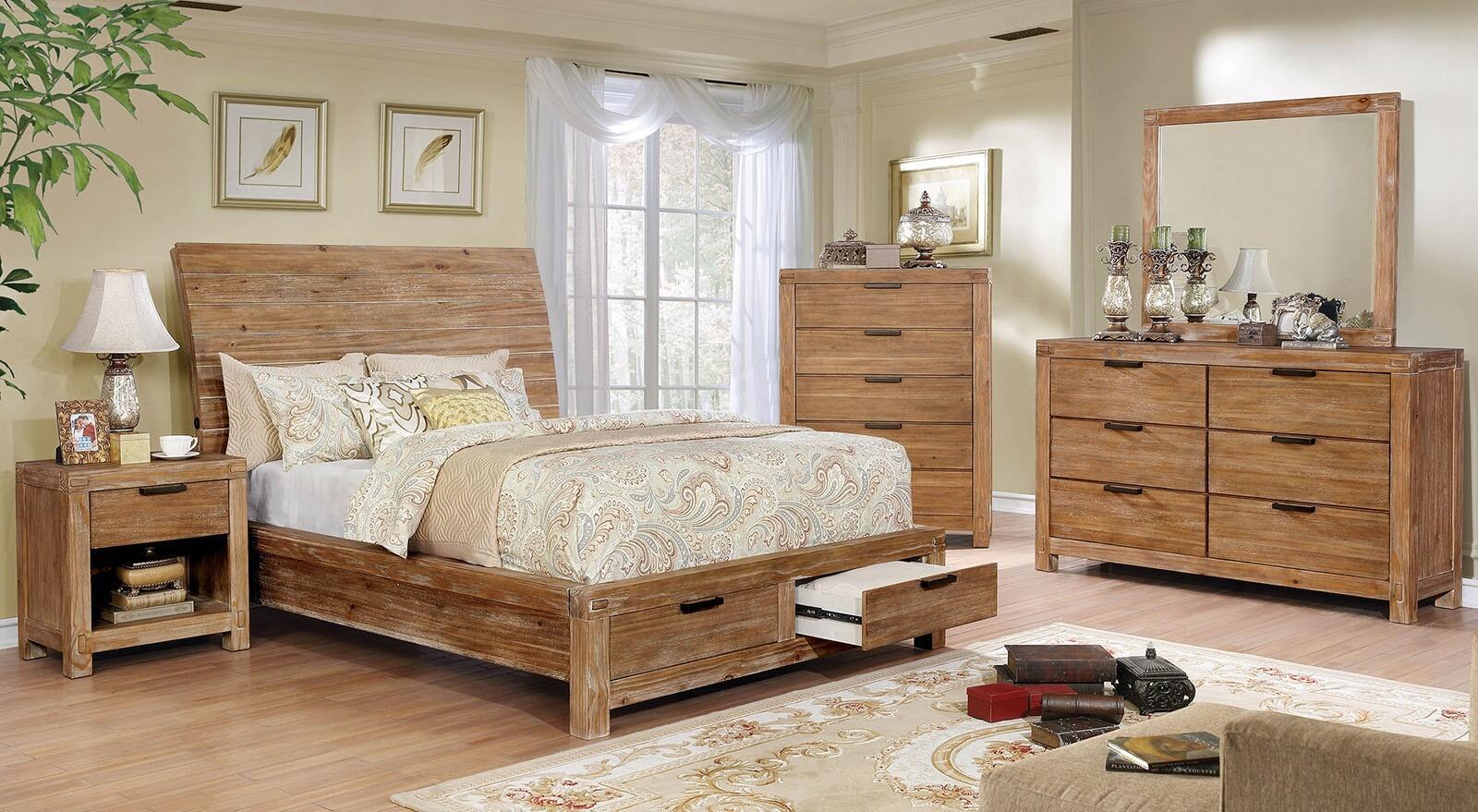 Furniture Of America Cm7361qbeddmsc 5 Pieces Bedroom Set With