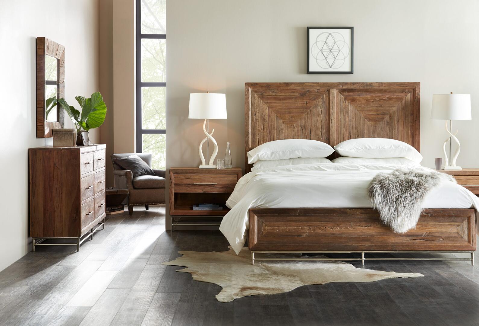 Hooker Furniture Lusine 4 Piece King Size Bedroom Set