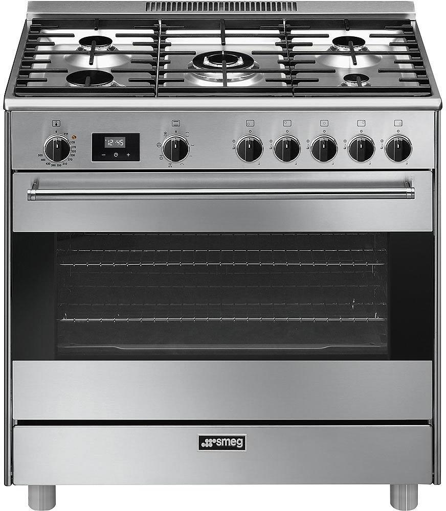 Smeg 36 Inche Stainless Steel 5 Sealed Burners with 4.5 cu. ft. Oven