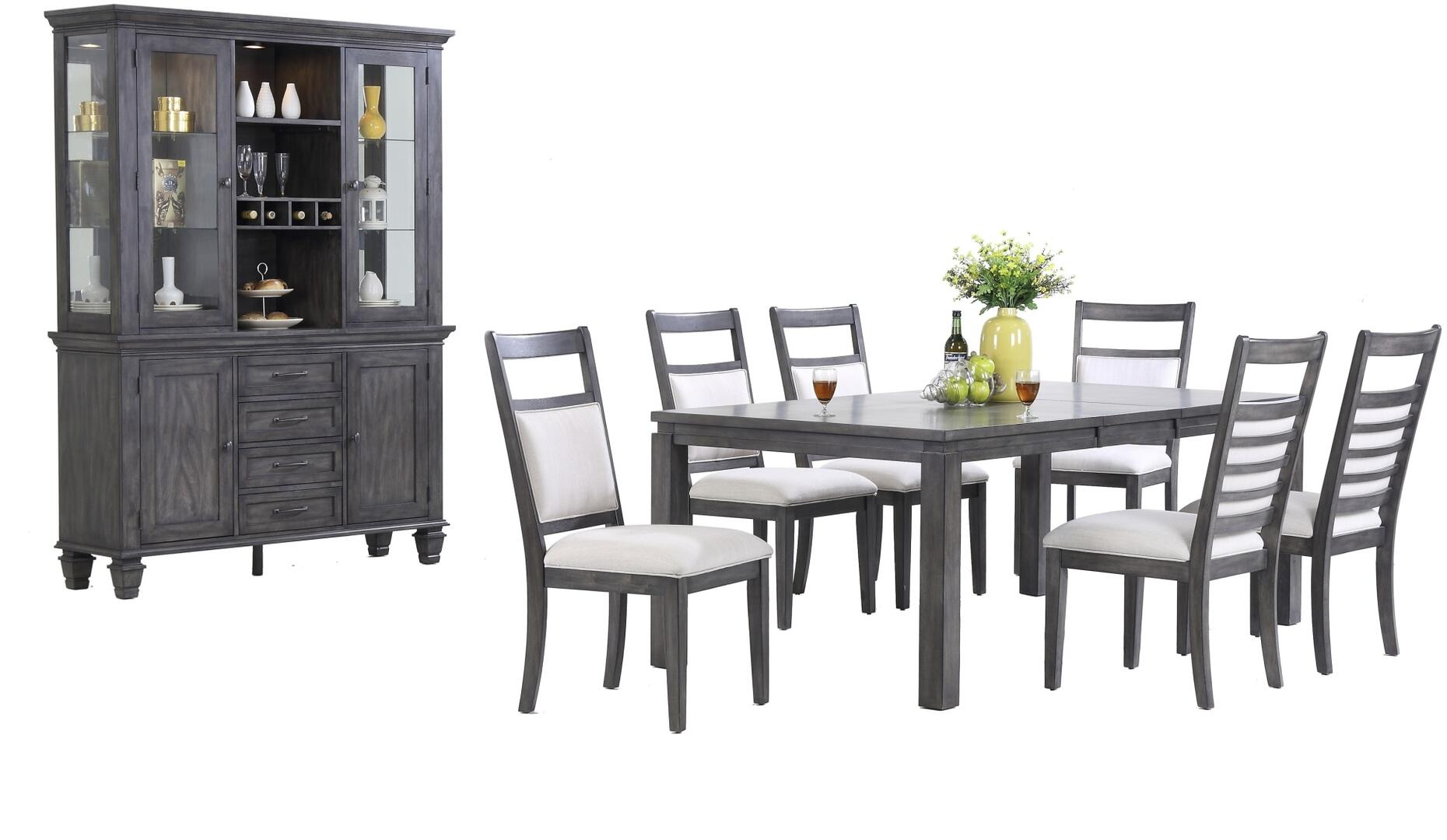 Dining Room Table And China Cabinet Set