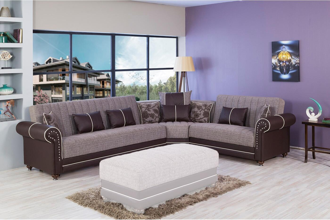 Sectional Quantro Brown