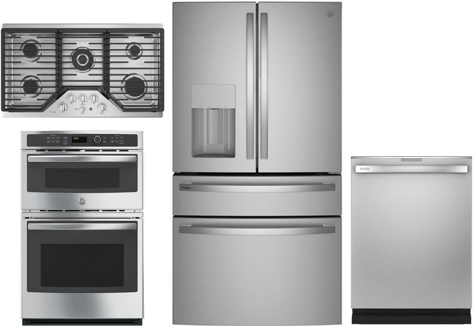 GE Profile 1139062 4 piece Fingerprint Resistant Stainless Steel Kitchen  Appliances Package