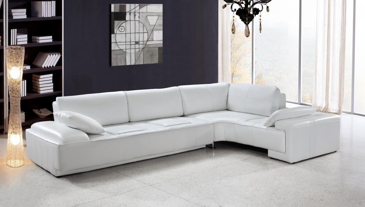 White Leather Sectional Sofa vig furniture vg2t0738