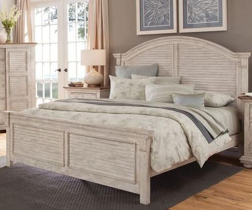 American Woodcrafters Cottage Traditions Crackled White 2 Piece Other Size  Bedroom Set