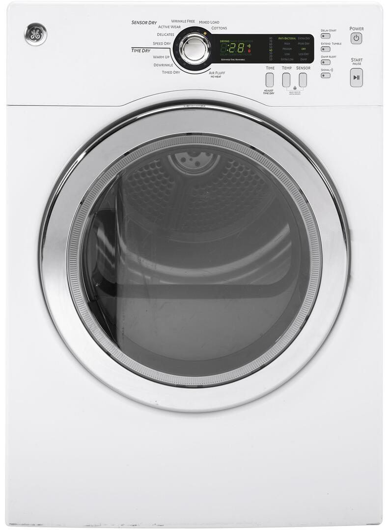 SAVE $167.25 on GE DCVH480EKWW 24 Inch Electric Dryer with 4.0 cu. ft. Capacity