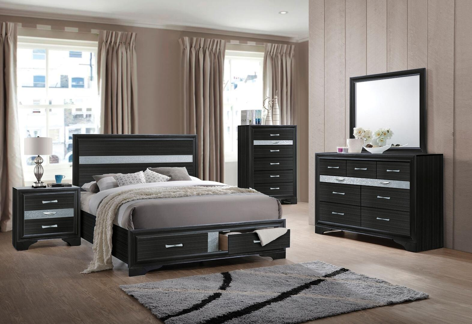 Acme Furniture Naima 5 Piece Queen Size Bedroom Set