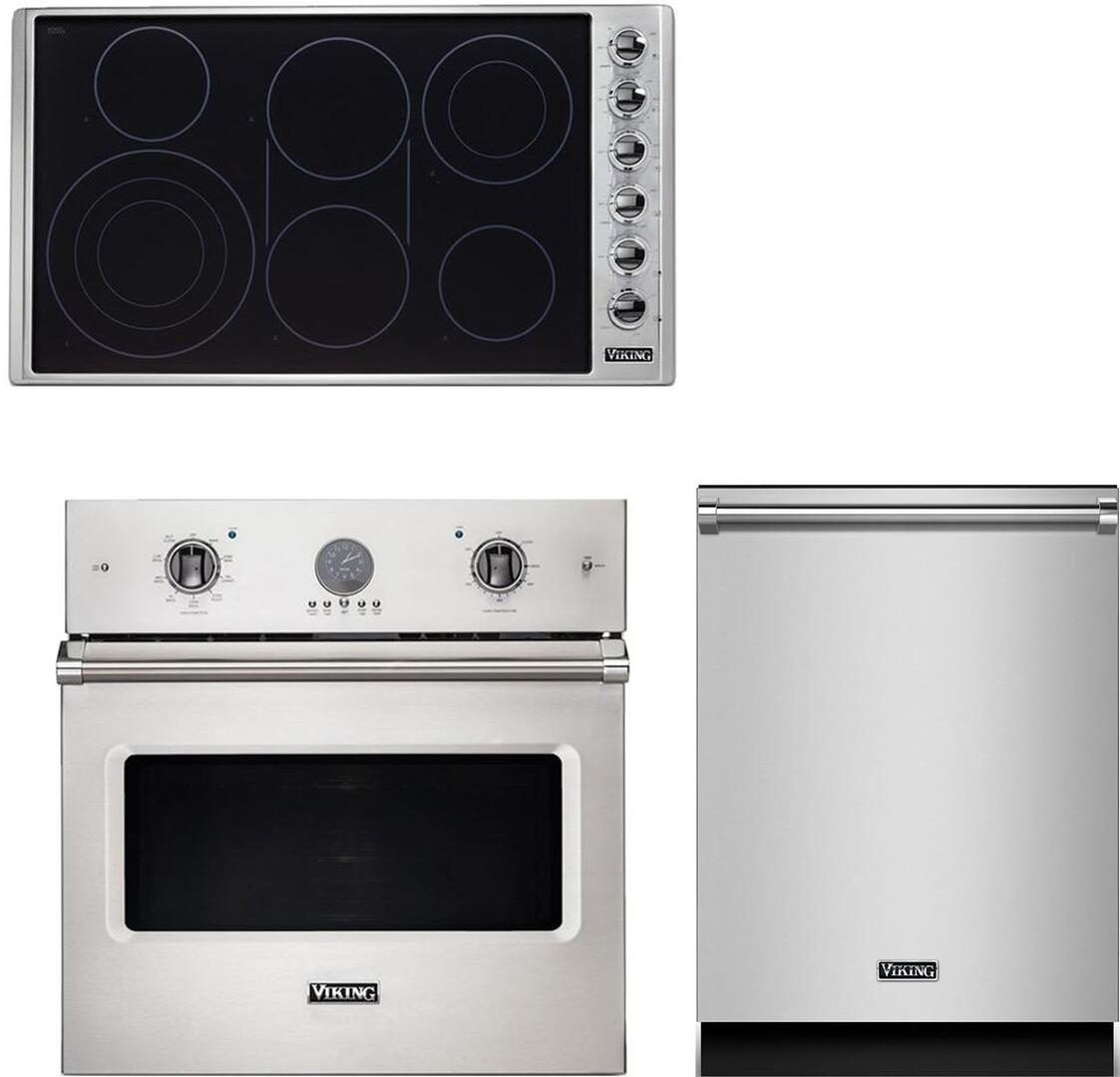 Viking 943497 3 piece Stainless Steel Kitchen Appliances Package