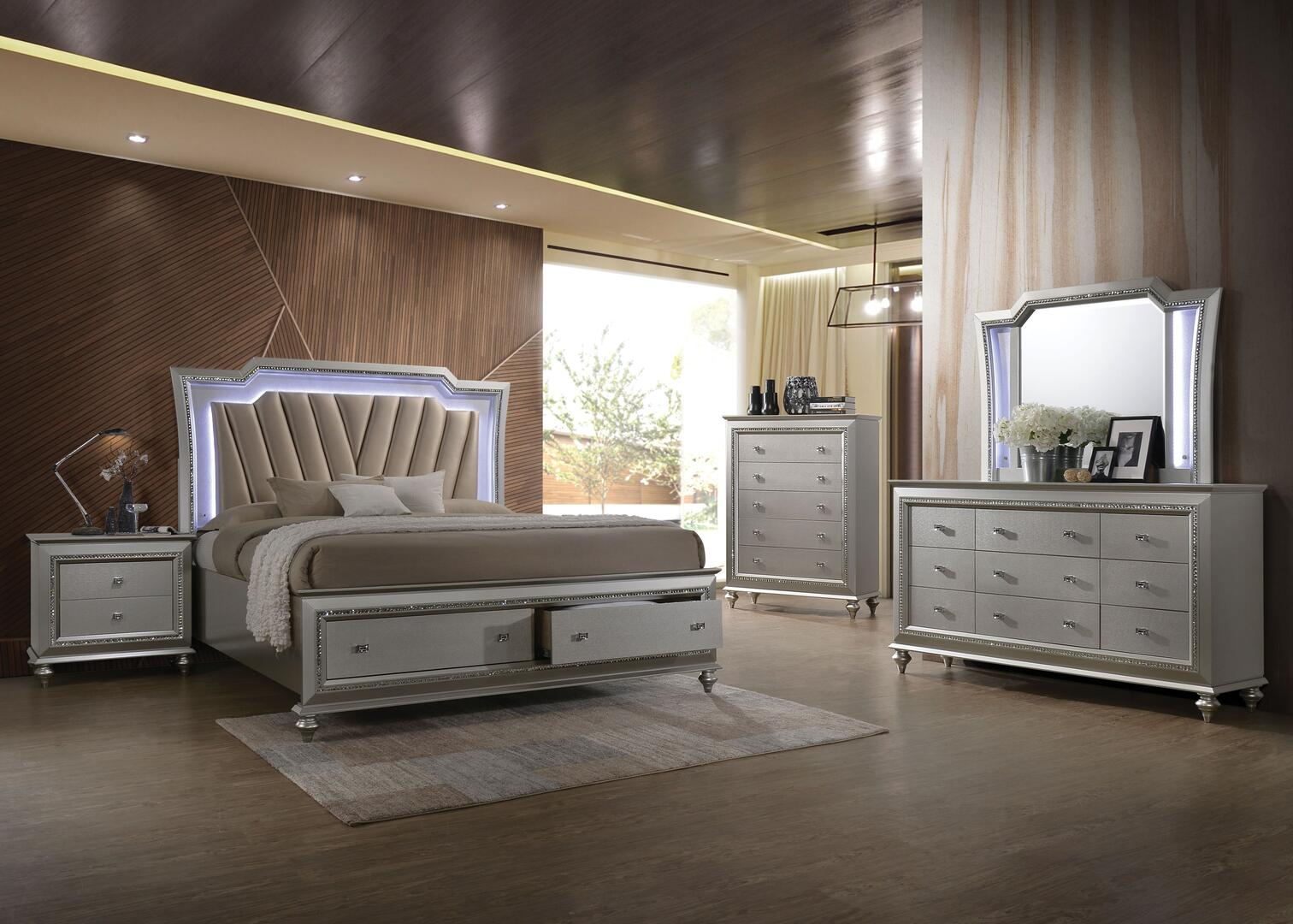 Acme Furniture Kaitlyn Collection 27227ekset 5 Pc Bedroom Set With