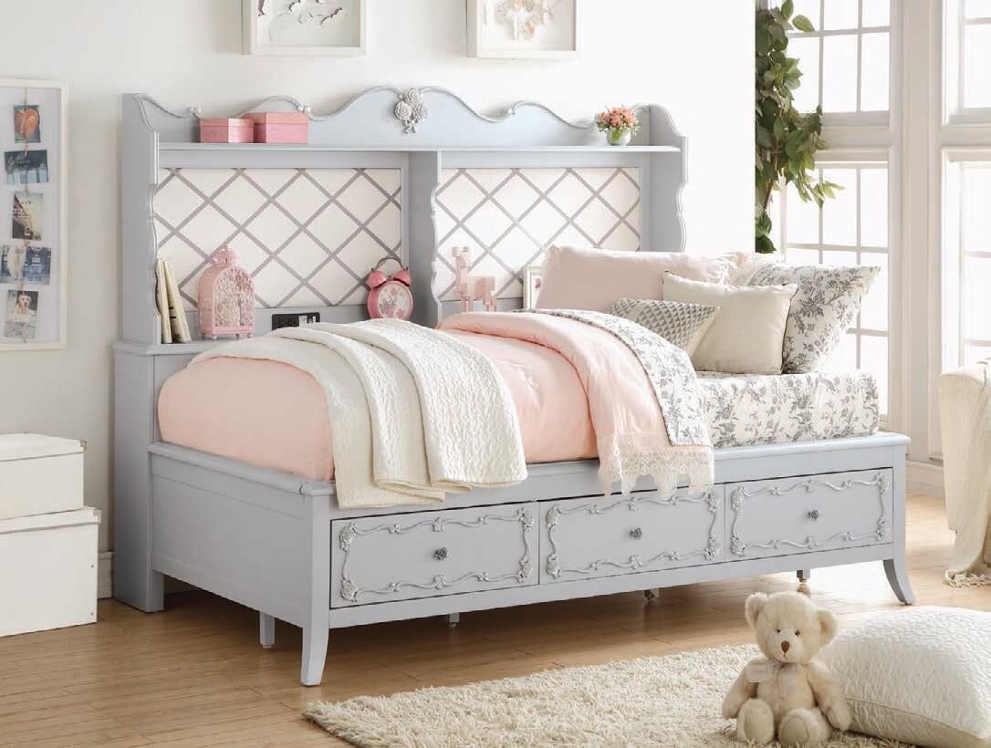 - Acme Furniture Edalene Full Size Storage Bed 39185 Grey