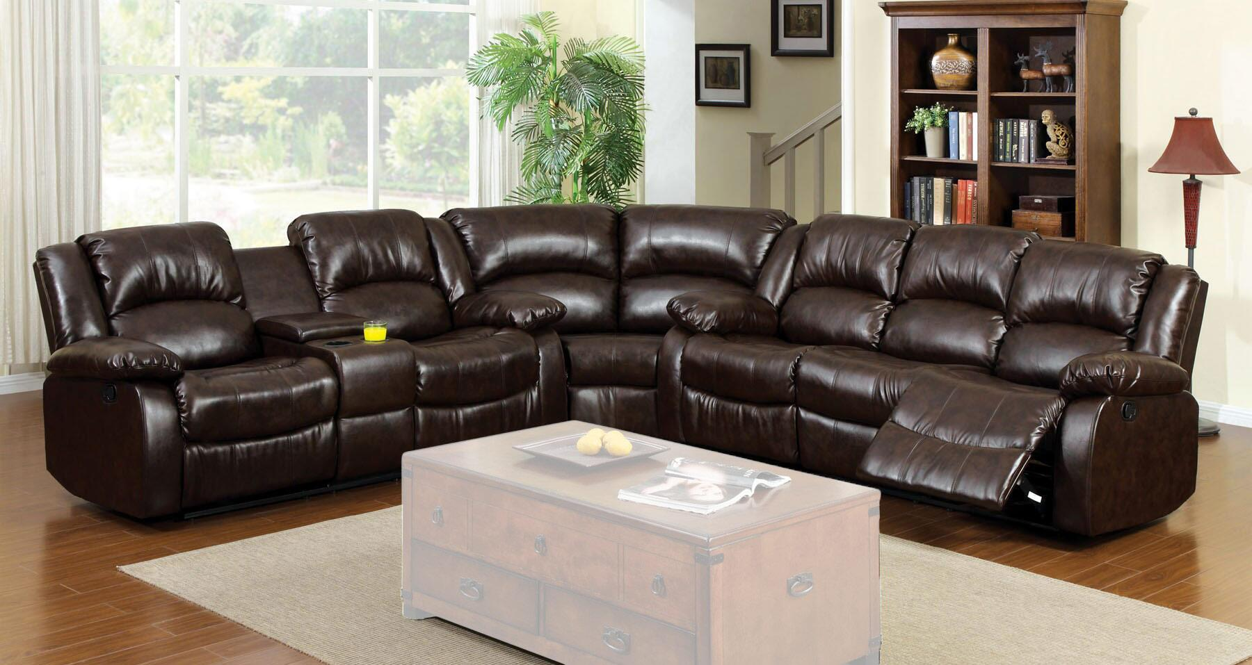 Furniture of America CM6556SECTIONALCT