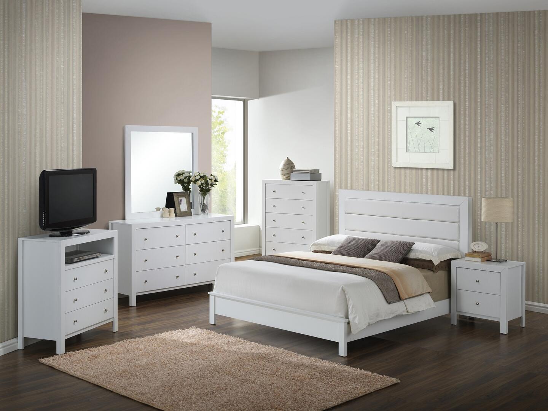 Glory Furniture Burlington Collection G2490aqbset 6 Pc Bedroom Set