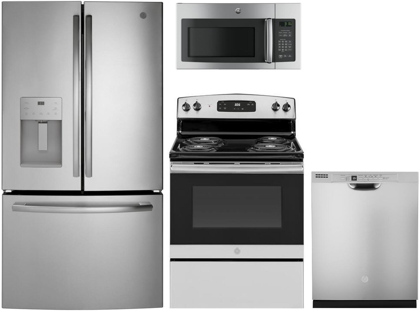 GE 1087458 4 piece Stainless Steel Kitchen Appliances Package