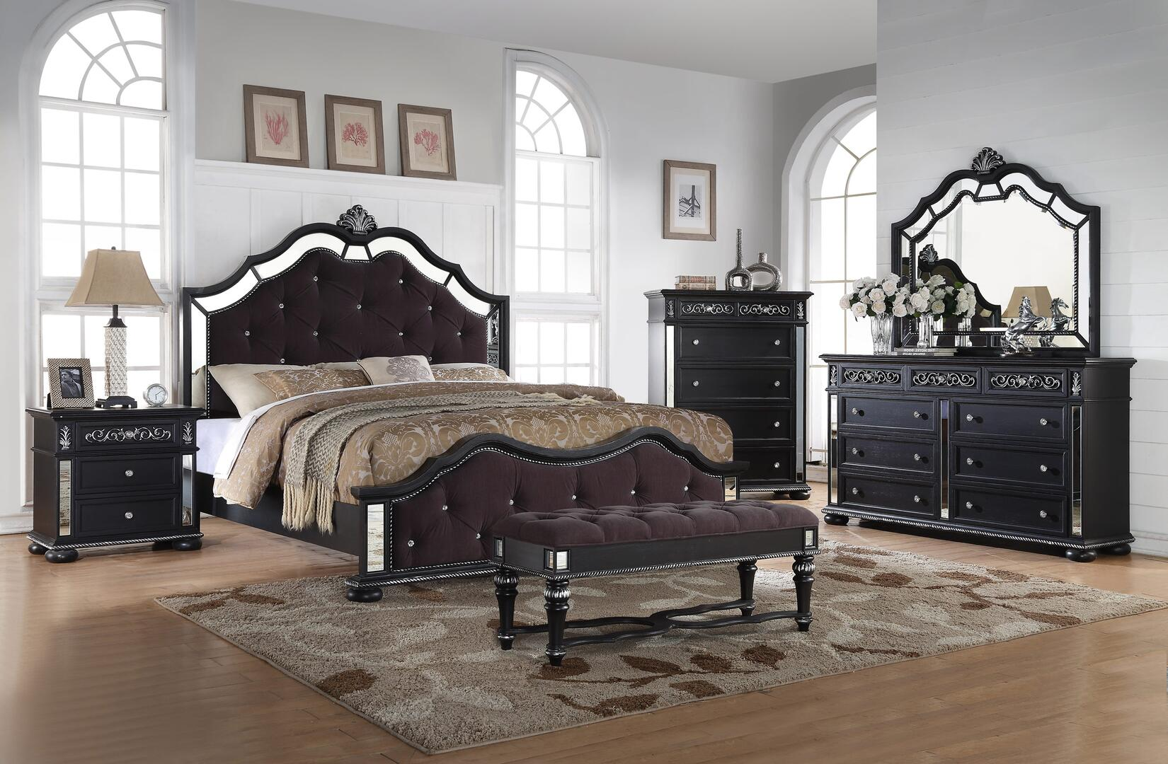 Myco Furniture Kelly 6 Piece Queen Size Bedroom Set