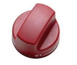 """804369 Set of Knobs for 36"""" Dual Fuel Ranges, in Red"""