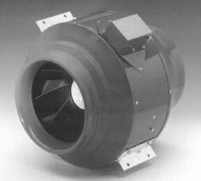 "In-Line Ventilator With 392 CFM, 6"" Round Duct"