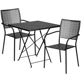 Flash Furniture CO28SQF02CHR2BKGG
