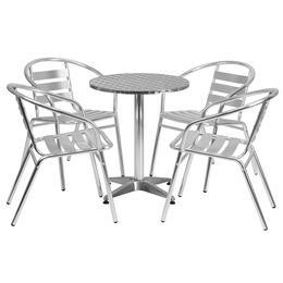 Flash Furniture TLHALUM24RD017BCHR4GG