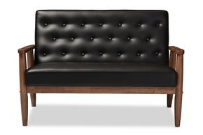 Wholesale Interiors BBT8013BLACKLOVESEAT