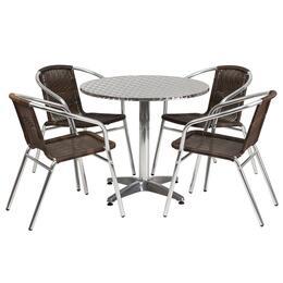 Flash Furniture TLHALUM32RD020CHR4GG