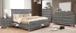 Furniture of America CM7302GYQBEDNSCHDRMR