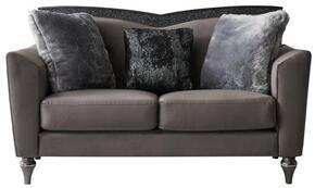 Global Furniture USA UFM801DRKGRYVELVETCC68LS