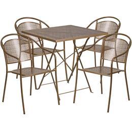 Flash Furniture CO28SQF03CHR4GDGG