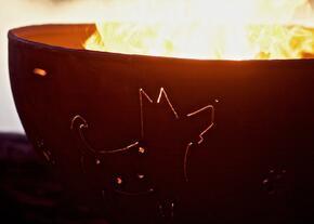 Fire Pit Art FUNKYDOGFPAMLS120NGAWEIS