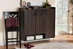 Wholesale Interiors MPC8022DARKBROWNSHOECABINET