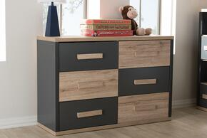 Wholesale Interiors BR990055DARKGREYWHITEOAKCHEST