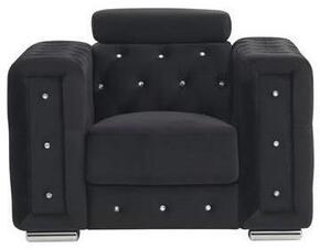 Global Furniture USA UFM365BLACKVELVETF18050CH