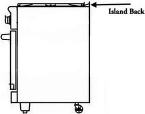 "ARR24SIBL 1"" Standard Fabricated Island Back"