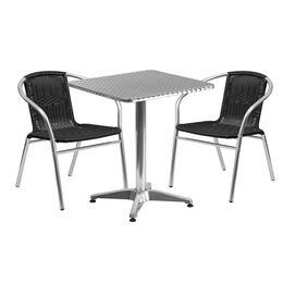 Flash Furniture TLHALUM24SQ020BKCHR2GG