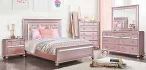 Furniture of America CM7170RGQBEDNSCHDRMR