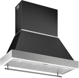 "KC48HERTNE Nero Matt Black 48"" Range Hood Canopy for K48HERTX (Hood Not Inc..."