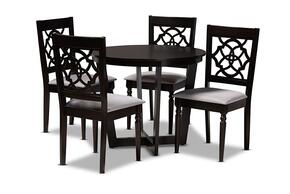 Wholesale Interiors VALERIEGREYDARKBROWN5PCDININGSET