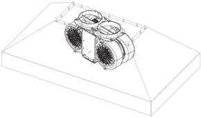 Internal Blower with 1200 CFM and 3 Speeds