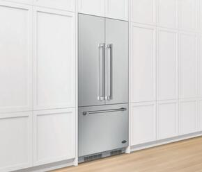 """RD3672C 36"""" Stainless Steel French Door Panel Kit, 72"""" Tall"""