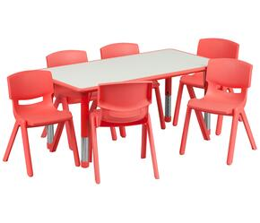 Flash Furniture YUYCY0600036RECTTBLREDGG