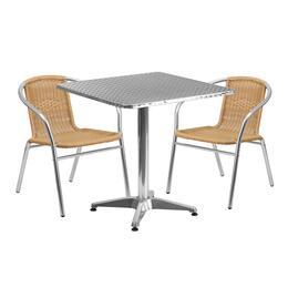 Flash Furniture TLHALUM28SQ020BGECHR2GG