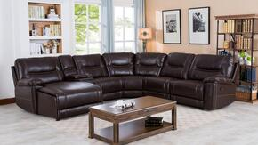 Myco Furniture 1023LFCHBR