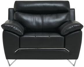 Global Furniture USA U8360BLANCHEBLACKCH
